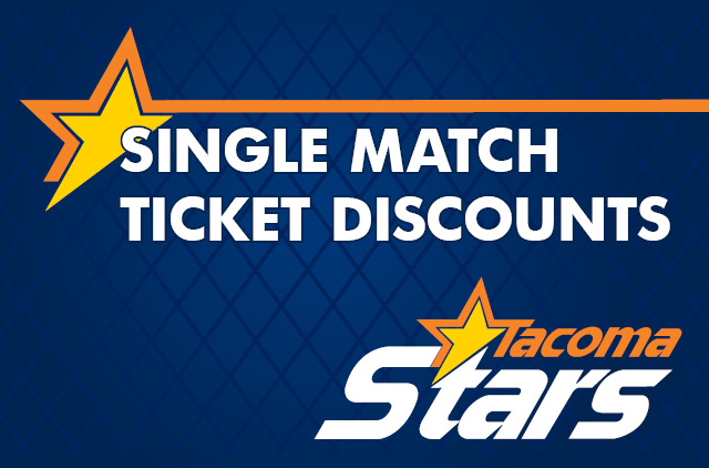 "Image Stating ""Single Match Ticket Discounts"""