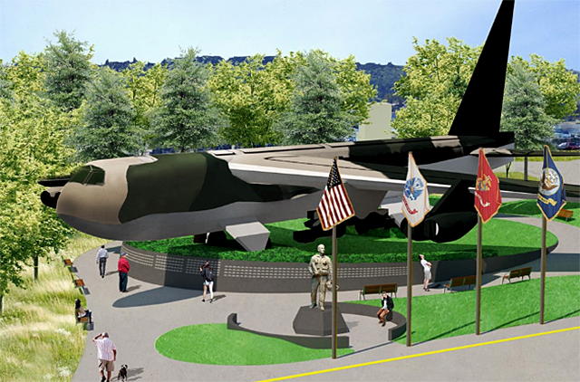 illustration rendering of vietnam veterans memorial park