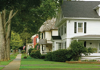 row of homes on street Mortgage-Loan-Officers