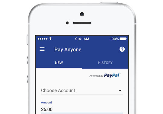 screenshot of Pay Anyone app on phone