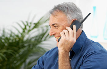 Mature male on telephone