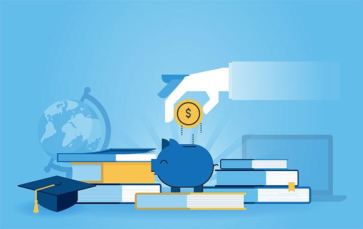 blue piggy bank graphic