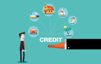 blue graphic about credit
