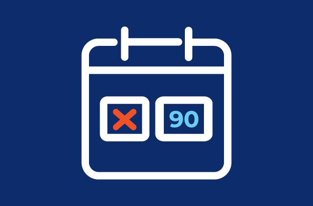 90 Day Payment Deferral Icon