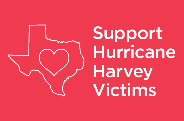 "Graphic: ""Support for Hurricane Harvey"""