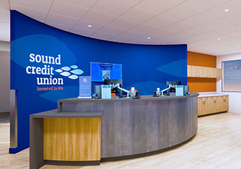 Sound Credit Union Redmond West Smiles, hellos, financial solutions