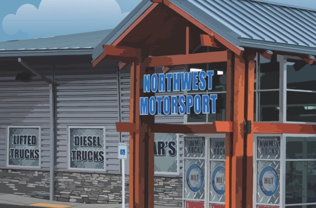 Northwest Motorsport illustration of building